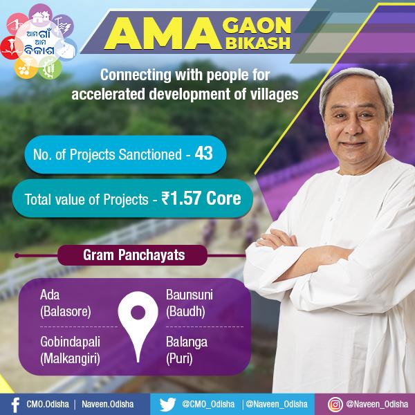 Ama Gaon Ama Bikash in Balasore,Puri,Boudh and Malkangiri