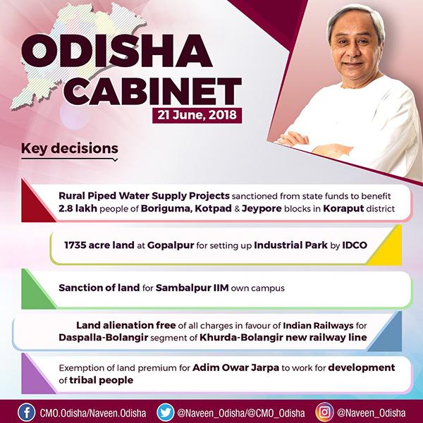Odisha Cabinet Key Decisions