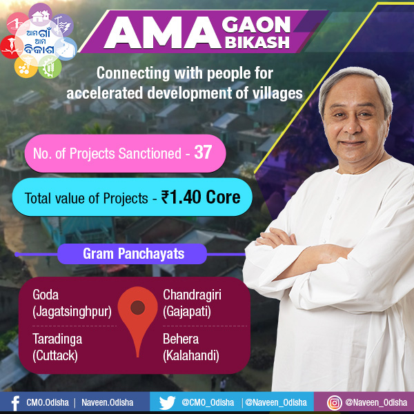 Ama Gaon Ama Bikash in Jagatsinghpur,Cuttack,Kalahandi and Gajapati.