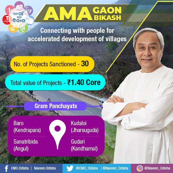 Ama Gaon Ama Bikash in Kendrapada,Jharsuguda,Angul and Kandhamal
