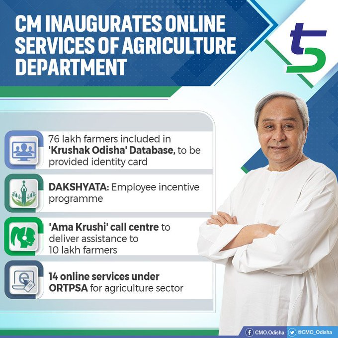 CM inaugurates several online services farmers