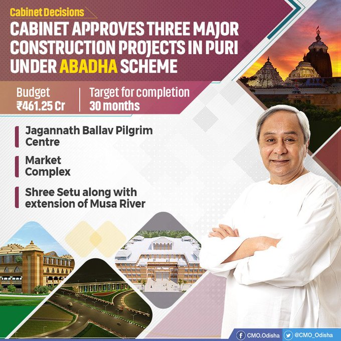 Odisha approved major construction projects in Puri under ABADHA Scheme
