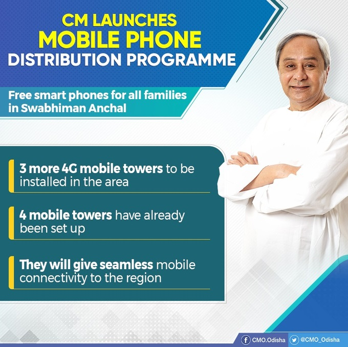 CM launched smart phone distribution programme for families of Swabhiman Anchal