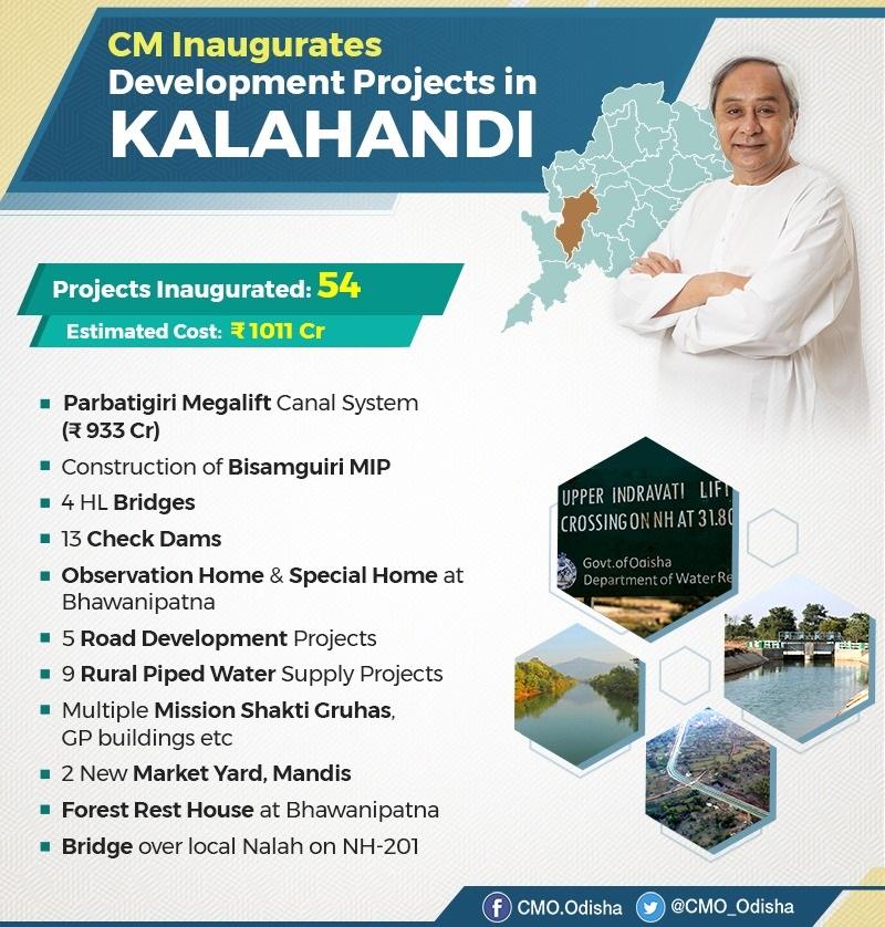 CM Naveen Patnaik inaugurated 54 development projects in Kalahandi worth Rs 1011 Cr