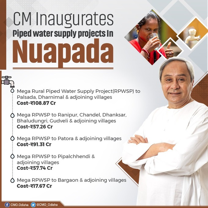 CM Naveen Patnaik inaugurated rural piped water supply projects in Nuapada district