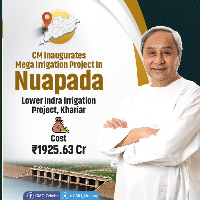 CM inaugurated Lower Indra Irrigation Project in Nuapada