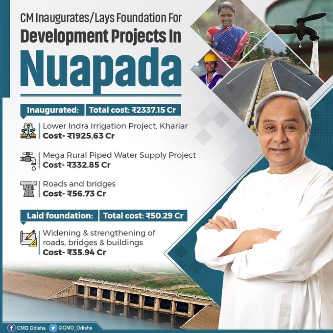 CM inaugurates & lays foundation of projects in Nuapada district